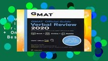 About For Books  GMAT Official Guide 2020 Verbal Review: Book + Online Question Bank  Best Sellers