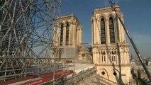 Notre-Dame : le ministre de la Culture mesure l'ampleur des dégâts
