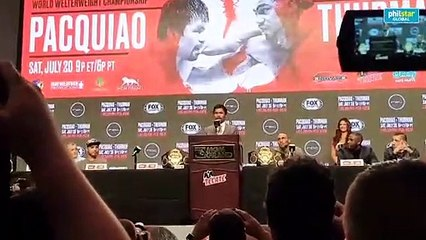 Pacquiao's final remarks at final presser
