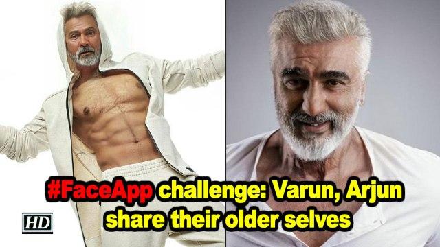 #FaceApp challenge: Varun, Arjun share their older selves