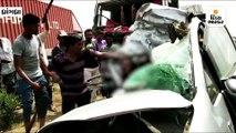 ધ્રાંગધ્રા-અમદાવાદ હાઈવે પર દુદાપુર ગામ પાસે ટ્રક અને કારનો અકસ્માત, 2ના મોત