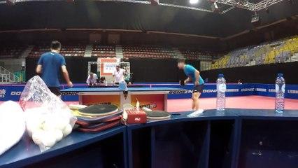 卓球  Ma Long - Lin Gaoyuan Training