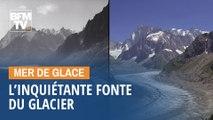 La Mer de Glace, site touristique des Alpes depuis le 18e siècle, fond à vue d'oeil
