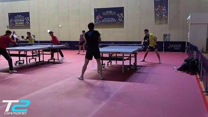 卓球  Jun Mizutani Training at the World Tour Grand Finals