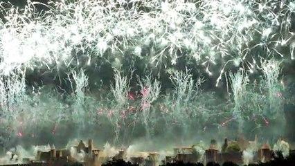 Feu d'artifice du 14 Juillet 2019 à Carcassonne
