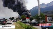 ISÈRE Un incendie dévaste une casse automobile