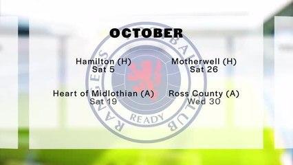 Rangers fixtures
