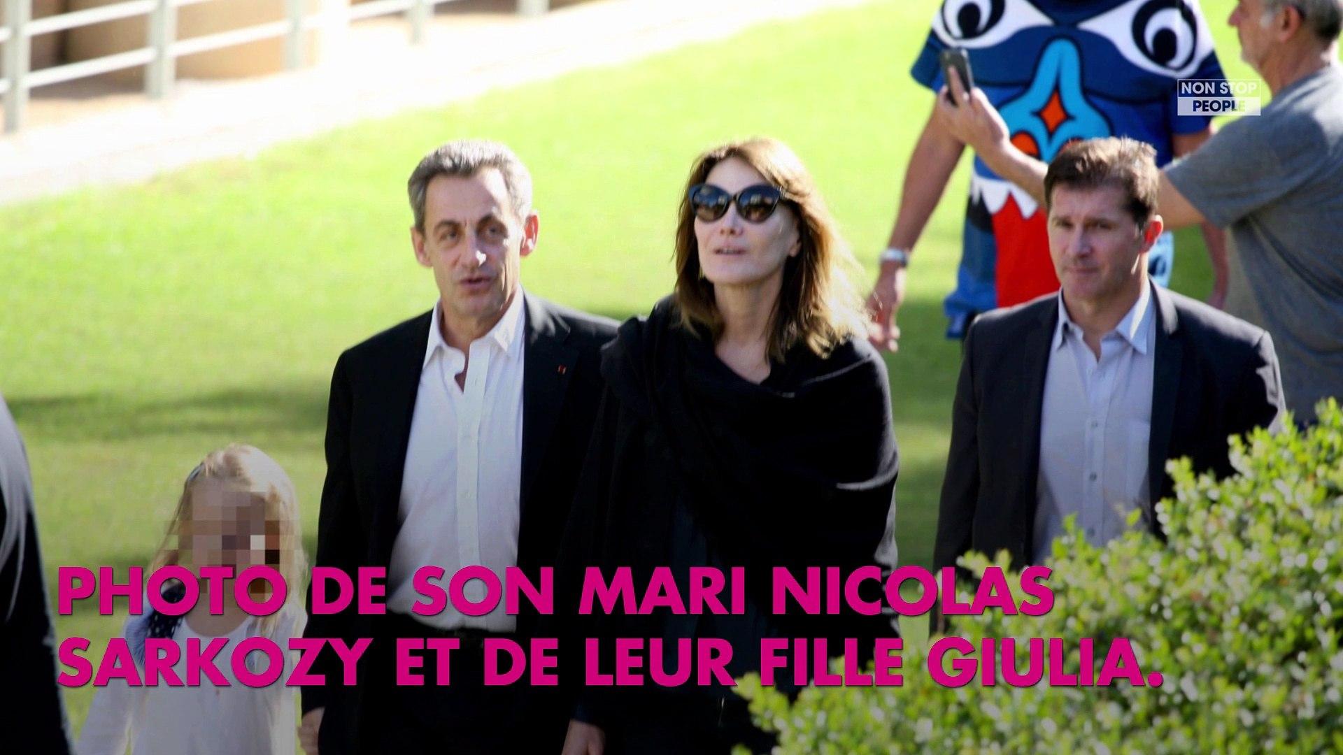 Carla Bruni Son Adorable Photo De Nicolas Sarkozy Et De Sa Fille Giulia Video Dailymotion