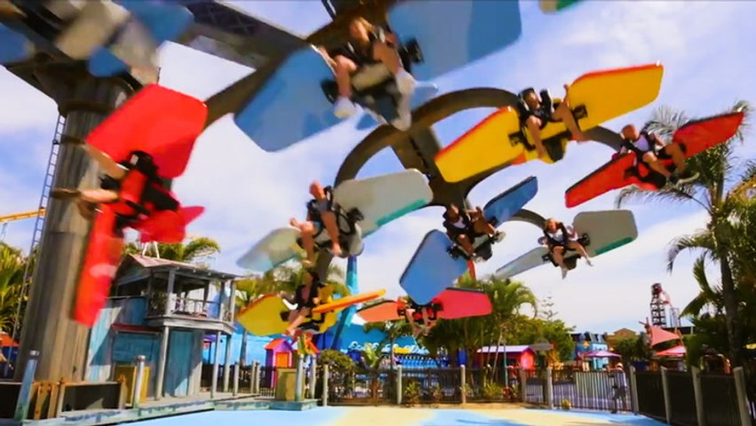 A thrill ride at a theme park in Australia spins you 360 degrees
