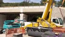 Visite des chantiers de modernisation de la ligne SNCF entre Marseille et Gardanne