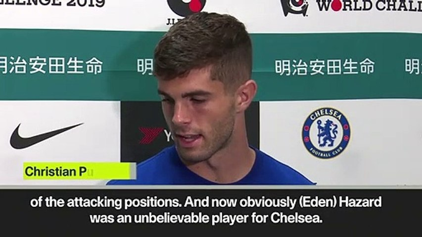(Subtitled) 'I'm not trying to compare myself to Hazard' says Pulisic