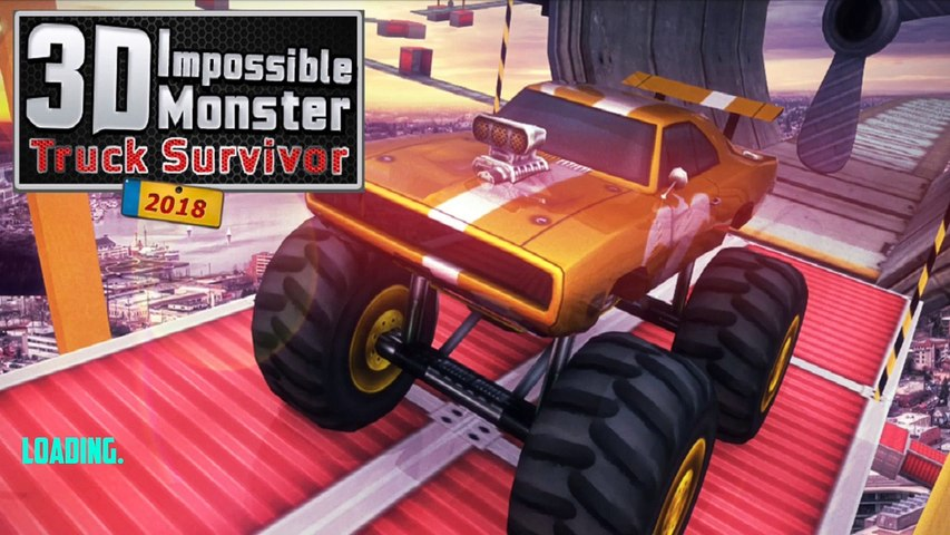 3D Impossible Monster Truck Survivor LV 9-12 - 4x4 Stunts Monster Games - Android Gameplay #2