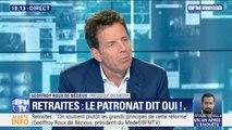 """Geoffroy Roux de Bézieux (Medef): cette réforme des retraites """"va permettre d'équilibrer les régimes"""""""