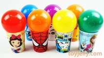 Spider Man Surprise Cups Disney Cars Princess Frozen Paw Patrol Marvel Avengers Catain America