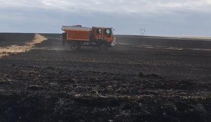 200 hectares de chaume brûlés à Fontaine-Mâcon