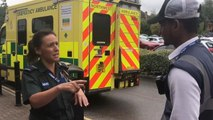 Ticket warden fines ambulance for parking on double yellows