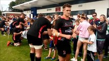 Ulster fans meet the players at Coleraine