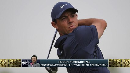 The Jim Rome Show: Rory McIlroy quadruple bogeys at The Open first-round