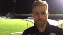 WATCH - Video interview with Town boss Simon Weaver after Pools draw