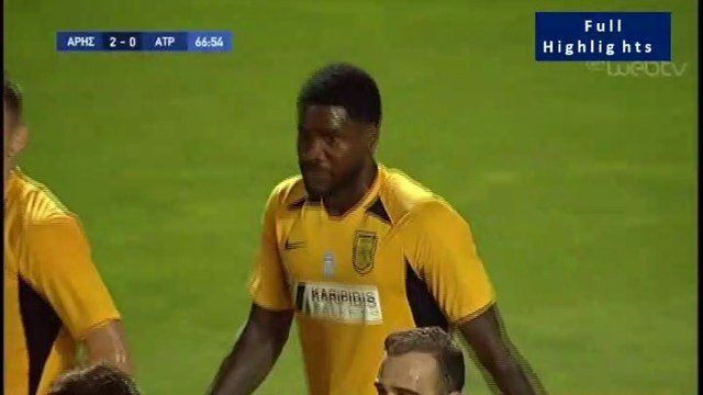 2-0 Brown Ideye Goal (pen.) - Aris 2-0 Atromitos - Full Replay 18.07.2019