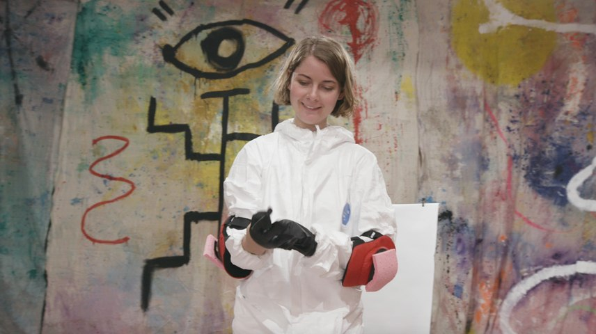 Painter Mary Margaret Groves Creates Art With Her Body At 29Rooms
