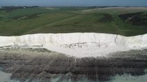 Cliff fall at Seven Sisters, Eastbourne