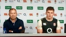 England coach Eddie Jones and co-captain Owen Farrell after 16-15 defeat to New Zealand