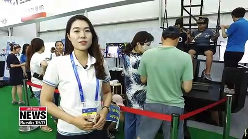 ICT experience pavilion draws visitors at Gwangju FINA World Championship