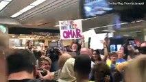 Ilhan Omar receives a warm welcome as she returns to Minnesota