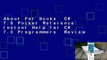 About For Books  C# 7.0 Pocket Reference: Instant Help for C# 7.0 Programmers  Review