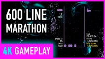 4K Tetris Effect 600 Line Marathon Mode On PC - Max Settings Gameplay