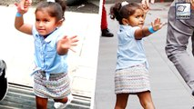 Sunny Leone's Cute Daughter Nisha Shouts At Media