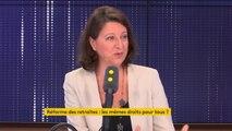 """Réforme des retraites : """"Nous ne sommes pas en train de réformer le système actuel, nous sommes en train de penser un nouveau système"""", affirme Agnès Buzyn"""