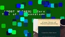 [MOST WISHED]  Core Text of Neuroanatomy