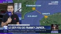 """La traversée de la Manche, c'est """"le double de ce qu'on pouvait faire il y a 4 mois"""", explique Francky Zapata, l'inventeur du Flyboard"""