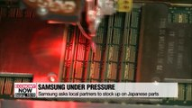 Samsung asks local partners to secure Japanese parts amid export curbs
