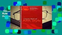 Concise Rules of APA Style (APA, Concise Rules of APA Style) (Concise Rules of the American