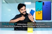 Infinix Hot 7 Unboxing and First Impression – Dual Rear Camera, Notch Display And More(Hindi)
