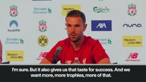 (Subtitled) 'We want more trophies' says Liverpool captain Henderson