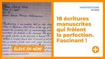 18 écritures manuscrites qui frôlent la perfection. Fascinant !