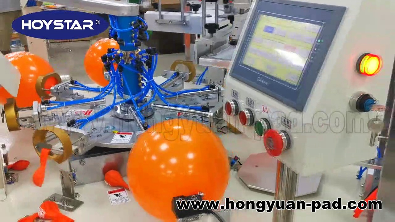 2 color automatic latex balloon screen printing machine for sale