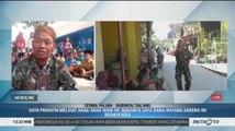 Anggota TNI Mendalang untuk Hibur Anak-Anak