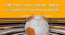 Microdrome de la CAN : CAN 2019 / Finale Sénégal - Algérie Les supporters font leur pronostic