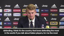 (Subtitled) 'Italy loves defending the most in the world' says new signing De Ligt