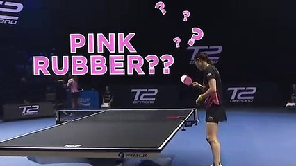 pink rubber on table tennis rackets yes or no
