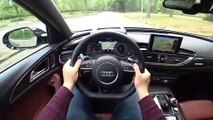 2019 Audi RS6 Performance 605hp POV Test Drive on Autobahn and Road