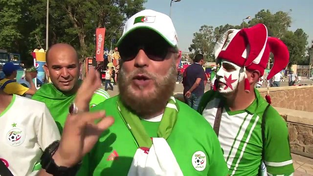 Fans gather outside the Cairo International Stadium ahead of 2019 AFCON final