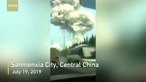 Découvrez les images impressionnantes de l'énorme explosion qui s'est produite dans une usine en Chine et qui a fait au moins 2 morts et 18 blessés