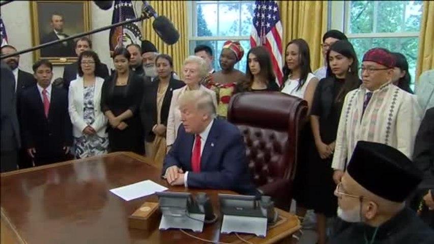 Trump es criticado por mostrar indiferencia ante la historia de la premio Nobel Nadia Murad