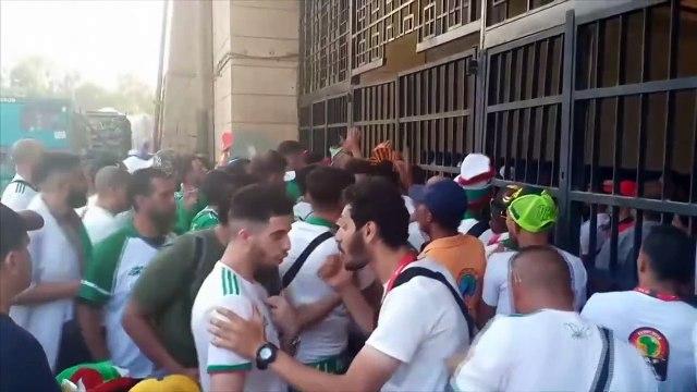 Algeria fans burst through gate to enter AFCON final stadium